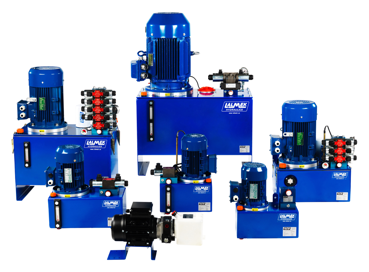 Produkter Frn Lalmek Simple Hydraulic System Diagram Industrial Hydraulics Power Packs
